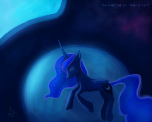 Good Night Princess Luna. Or rather good day. cause I have the theory that she sleeps during the day and wakes up during the night. Which would explain why she didn't showed up when changeling were attacking Canterlot, heh.