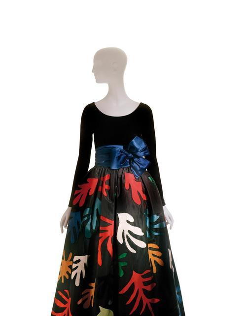 Yves Saint Laurent, Long Evening Dress inspired by Henri Matisse, Fall/ Winter 1980.