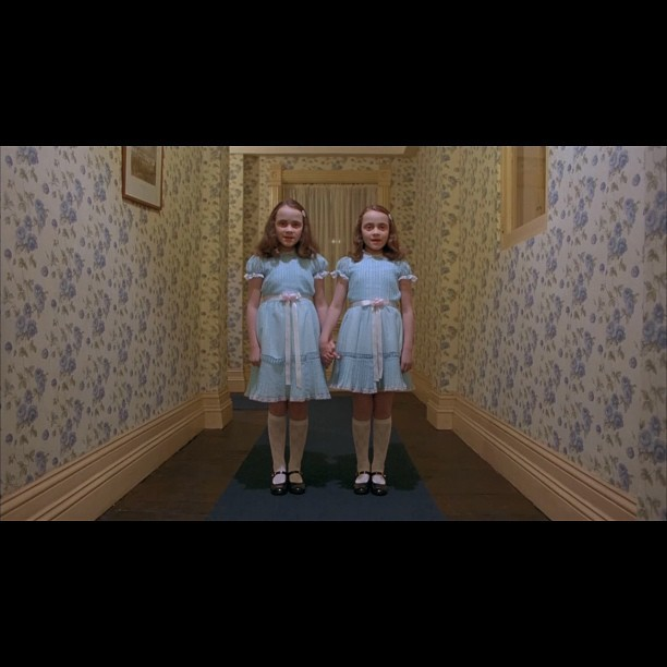 #twins #theshining #stanleykubrick #classic #clássico #beautiful (Taken with Instagram)