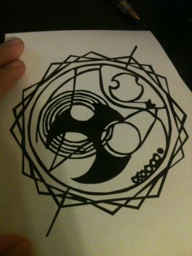 Time in Gallifreyan Vinyl Decal
