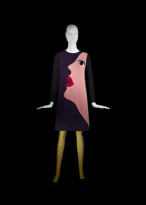 thepowerofart:  Yves Saint Laurent, Short Cocktail Dress, Tribute to Tom Wesselmann, Fall-Winter, 1966.