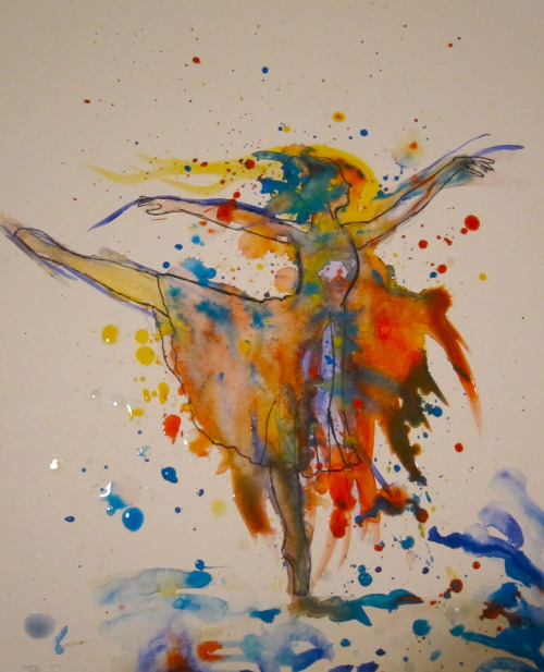 ecookart:  Ballet Dancer in Watercolor E.E Cook