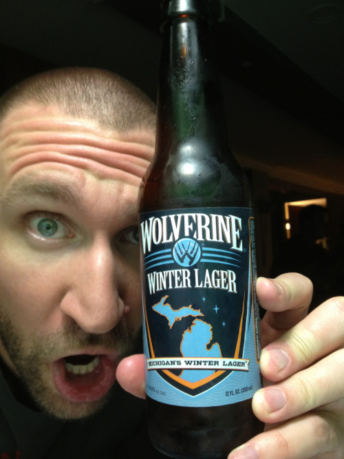 #798 Wolverine State Brewing Co Winter Lager (USA)  I reckon I'm a fair sick cunt for drinking a Winter Lager in the dead of summer eh. This is boss though. Scott said it smells like yoghurt. I laughed. Then I opened mine. He was right. Like lactose or something. It pours a ruby brown, it's 6.5% (though it doesn't taste it), it's bitter, a touch spicy (cloves, maybe cinnamon) and a bit of alcohol on the aftertaste. Splendid.