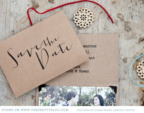 Save the date printable thanks to The Pretty Blog