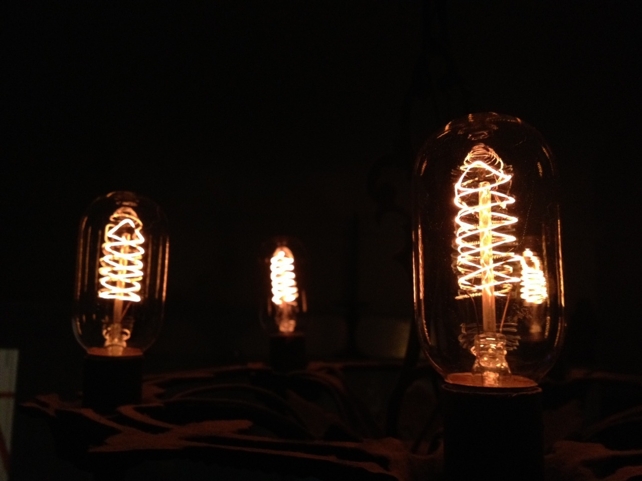 Edison Bulbs for our chandelier (good call Dillon)