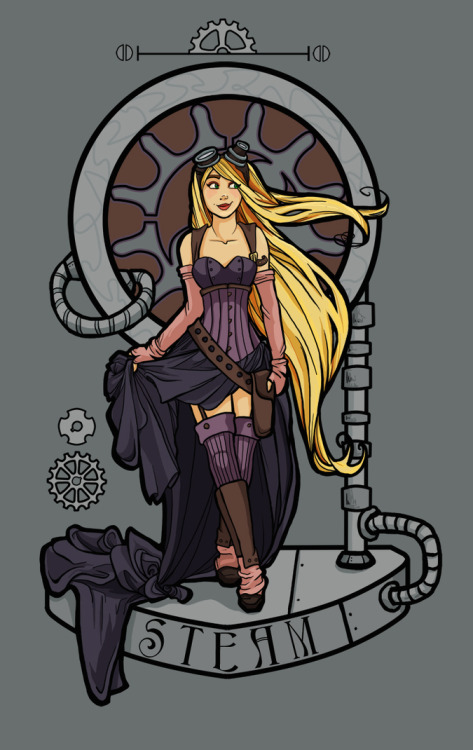 Steampunk Nouveau by Karen Hallion