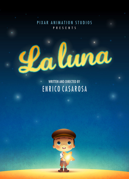 "Gorgeous alternative poster for Pixar's ""LA LUNA"" by Jerrod Maruyama"