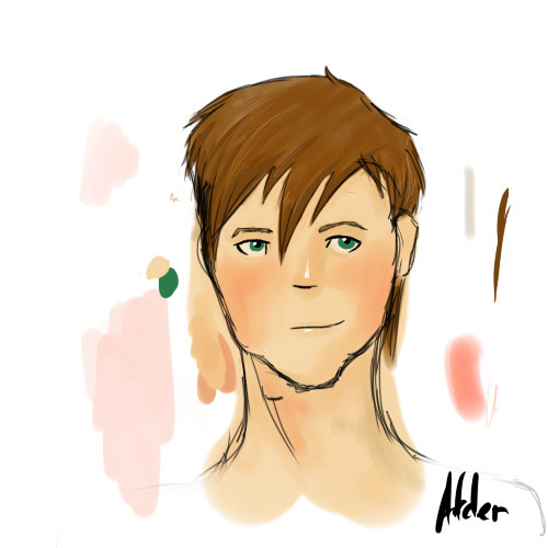 hgoftfanart:  I decided to try a new style to try and get my muse back. So I drew my favorite tribute. c: […It's Adder. Btw.]  Shameless reblog of my own post. #hair flip
