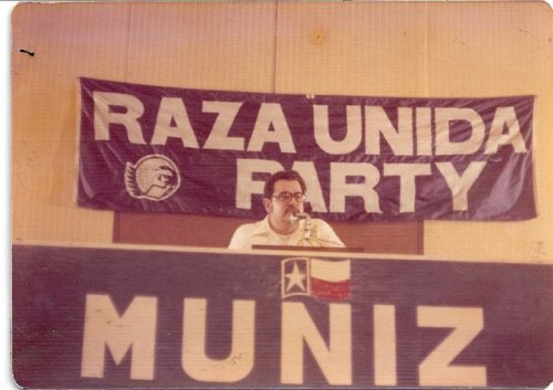 Jose Montalvo at a rally in 1972.
