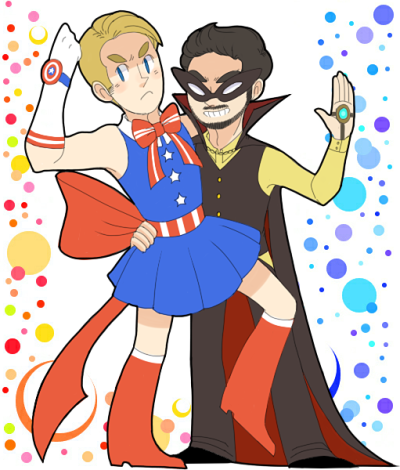 sailor america-kun and tuxedo stark