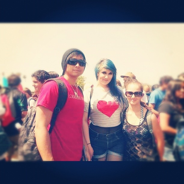 Kimi and I with a member of frequencyfive (Taken with Instagram)