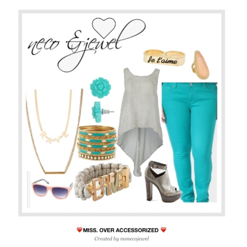 necoandjewel:  ❤Miss. Over Accessorized❤  Teal Love.