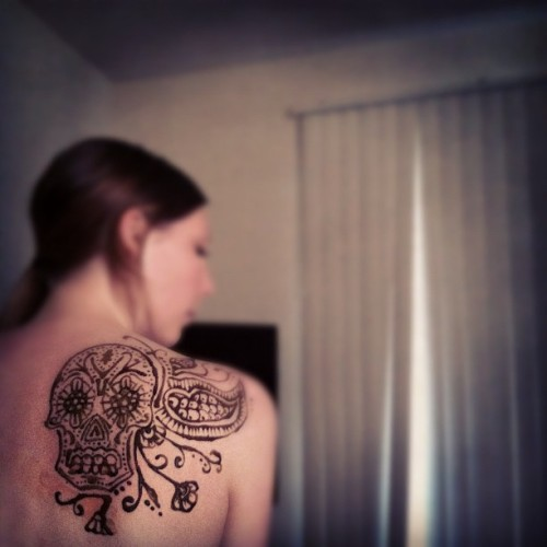 Bored, messin w/ henna  (Taken with Instagram)