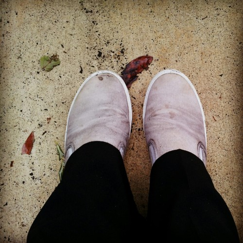 My shoes where white before I walked in the rain (Taken with Instagram)