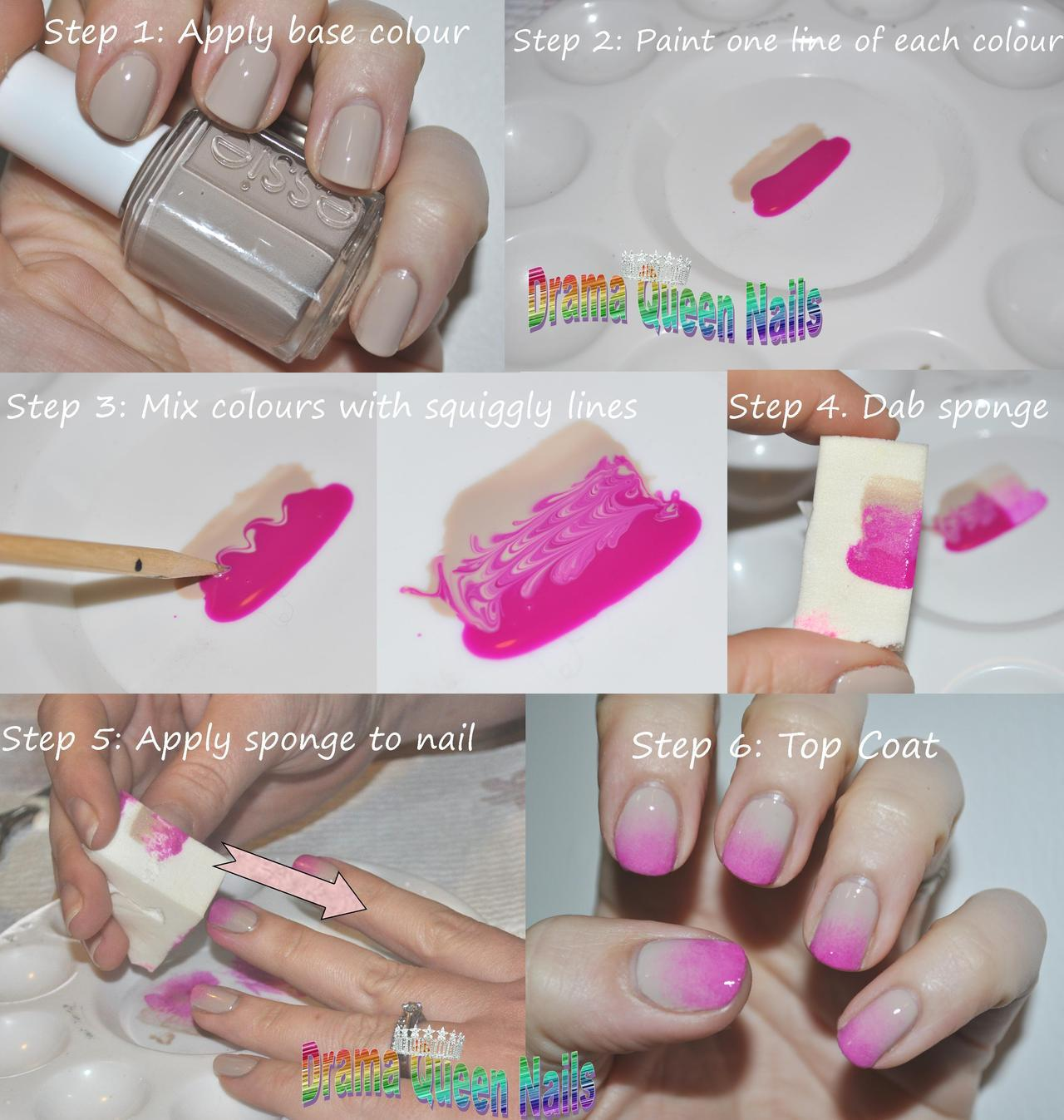Drama Queen Nails — Gradient Tutorial - I have seen a few of these...