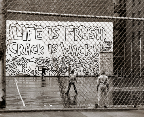 """Crack is Wack!"" Keith Haring 1986 by Matt Weber"
