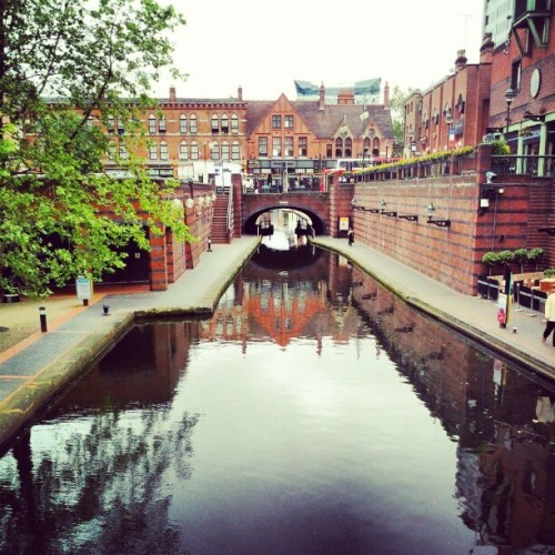 #canal #Birmingham #water #reflection #travel  (Taken with Instagram)