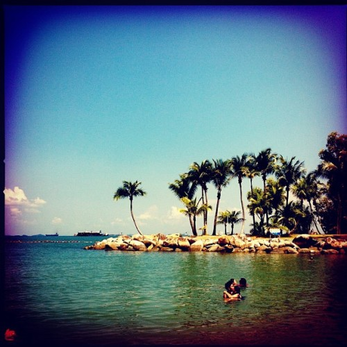 Palawan Beach. Sentosa. (Taken with Instagram at Palawan Beach)