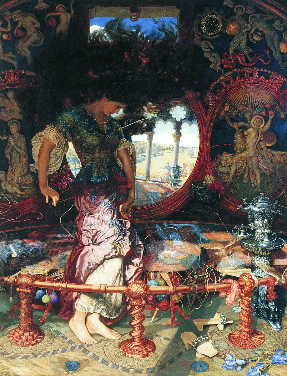0izys:  The Lady of Shalott Artist: William Holman Hunt Completion Date: 1905