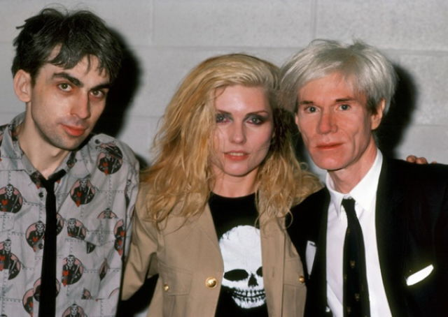 Chris Stein, Debbie Harry & Andy Warhol; 1982.