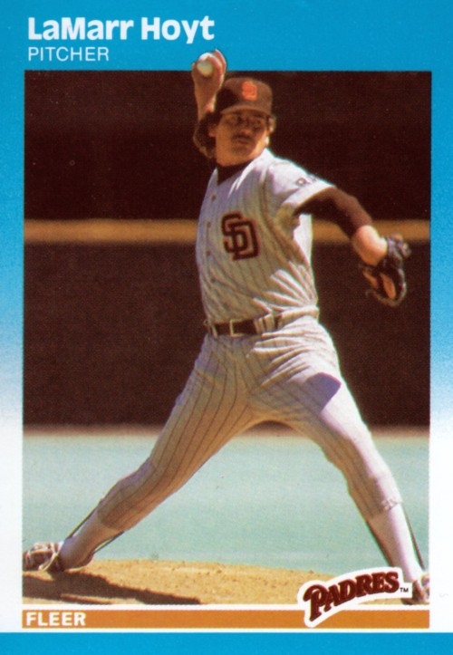 Random Baseball Card #1156: LaMarr Hoyt, pitcher, San Diego Padres, 1987, Fleer.