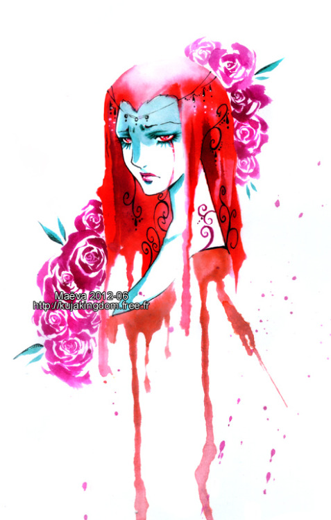 Red anger by =Maevachan I find something about this particular style of hers very appealing. The streaks/splotches, the white space; it all just comes together in a way I really like.