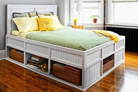 Storage Bed | This Old House OK, so this is a real full on building project but if you're looking for a Summer project this would be perfect! Or if you can convince your favourite builder to make it for you that would be perfect too! These beds are perfect for small houses with no storage, though who couldn't do without more storage space anyway?