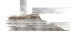 drawingarchitecture:  Cliff Section, Island School. Aoife O'Leary
