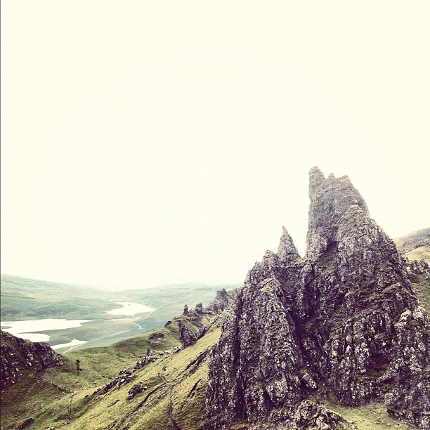 Looking South from The Old Man of Storr (thank you for looking!)  #igdaily #instagood #instahollic #followme #instamood #popmeth #popular #photooftheday #gb #uk #britain #igersoftheday #instagold #allshots #webstagram #instahub #scotland #skye #highlands #view #mountain #sky #vista (Taken with Instagram at The Old Man of Storr)