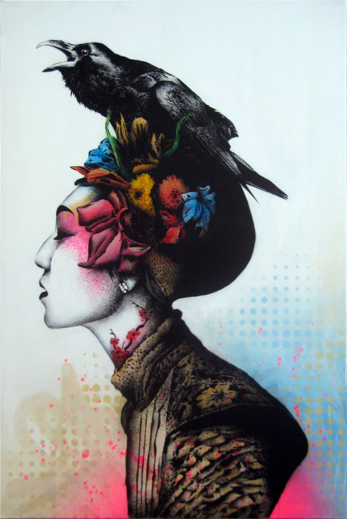 2headedsnake:  athenna.com Urban art by Fin DAC