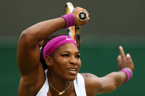 DANDY WILLIAMS   Serena Williams of the U.S. defeated Barbora Zahlavova Strycova of the Czech Republic 6-2, 6-4 in the first round at Wimbledon in London Tuesday. (Photo: Andrew Couldridge / Action Images / Zuma Press via The Wall Street Journal)