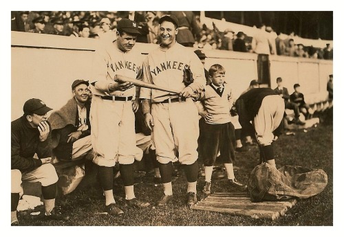 Babe Ruth Is On Bat Inspection Duty The Yankees At West Point, N.Y. - May 6, 1927