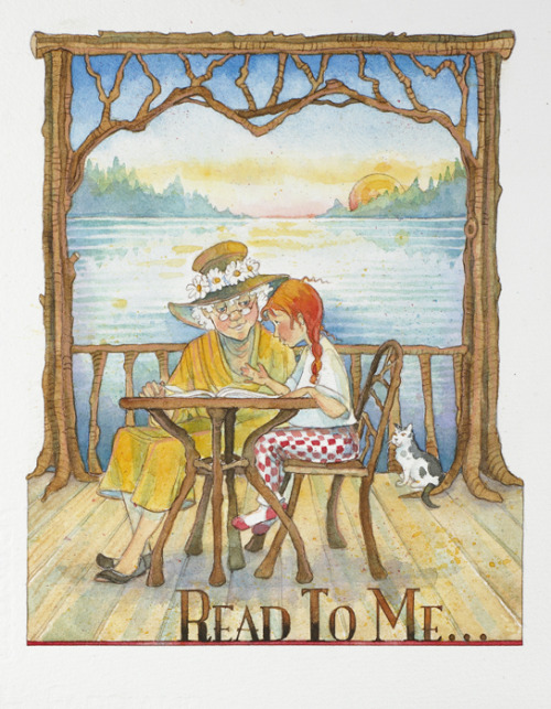 Read to me… :) / Lee conmigo… (ilustración de Mary Haverfield)