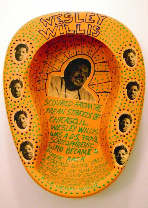 Wesley Willis bed pan art (not by him - but about him)