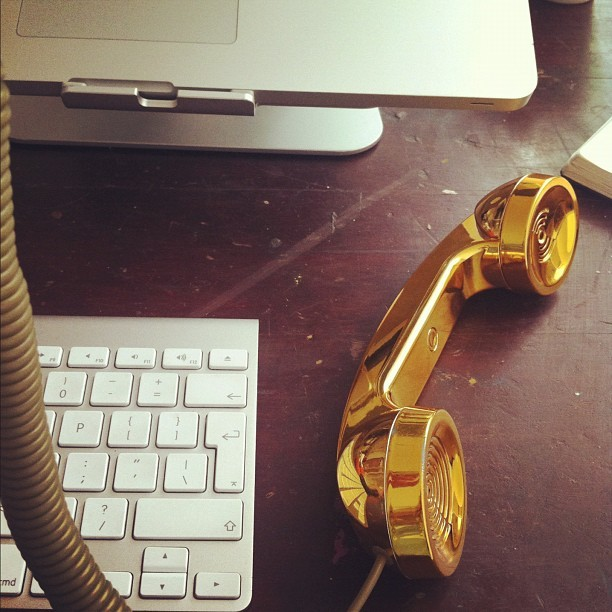 Ya ya ya… Call me. @ti_bird added a little gold into my life (Taken with Instagram)