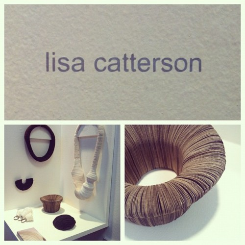 #newdesigners #lisacatterson #jeweler #jewellery #paper #contemporary #applied #arts #london #graduate #2012 #gsa (Taken with Instagram)
