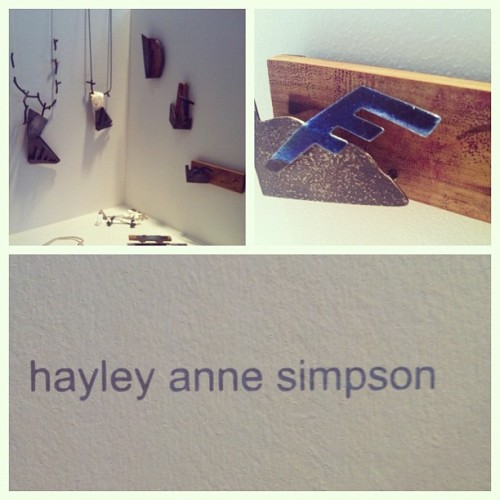 #newdesigners #jeweller #hayleyannesimpson #wood #jewellery #enamelling #mixedmedia #contemporary #applied #arts #london #graduate #2012 #gsa (Taken with Instagram)