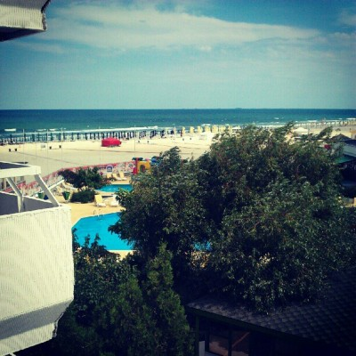 In heaven. #beach #constanta #pool #hotel #mamaia (Taken with Instagram)
