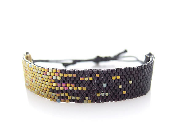 Starry summer days, now on 30% OFF SALE ~ ❤Black Stardust Beaded Cord Bracelet by JeannieRichard