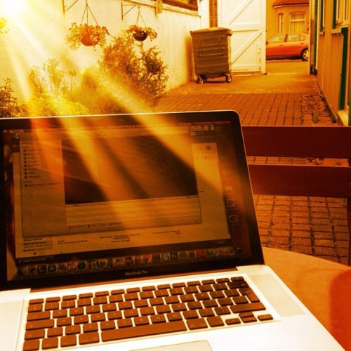 Making most of the #weather and working in the mini #courtyard (Taken with Instagram at Phoenix Community Care)