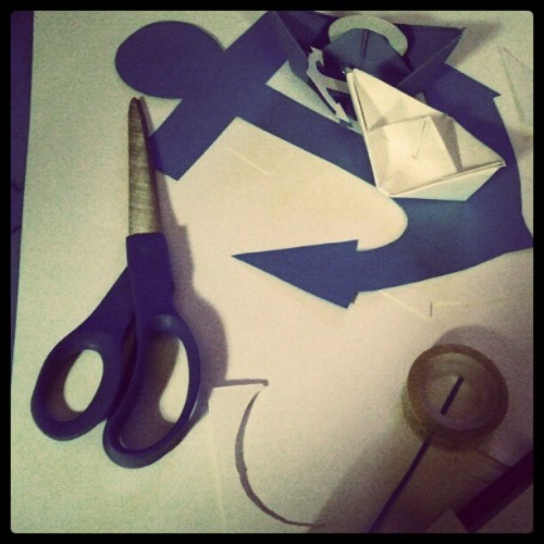 Finally making a start on some decorations for Saturday! (Taken with Instagram)