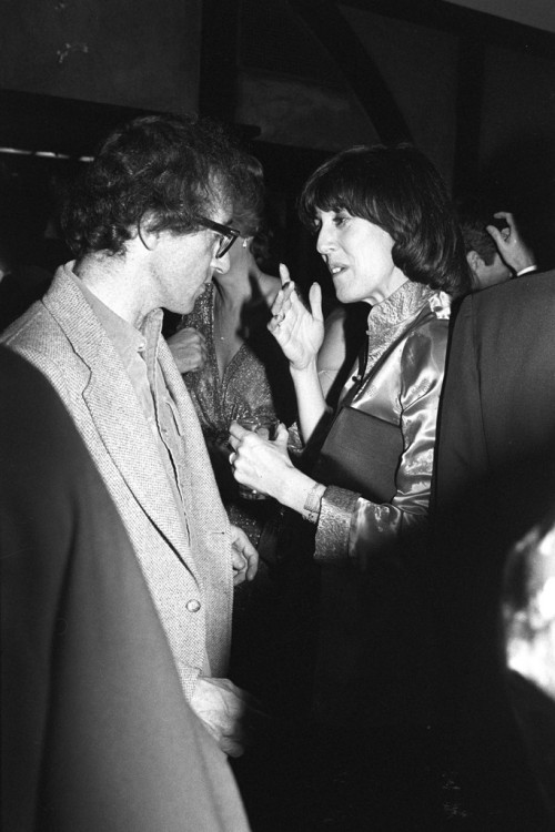 R.I.P. Nora Ephron, a woman who gave us a little bit of hope through her work.  womensweardaily:   Nora Ephron and Woody Allen in 1978. Photo by Tony Palmieri