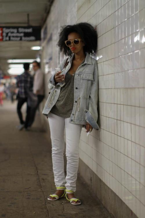 "humansofnewyork:  ""My name is Saada.""""That's a pretty name.""""It means 'happiness' in Arabic.""""Oh, are you from the Middle East?""""No, I'm East African."""