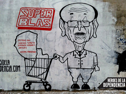 Super Blas by Yuki Yshizuka for the Dependence Heroes Colective. Asunción, Paraguay.