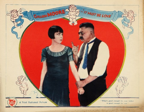 Jean Hersholt warns screen daughter Colleen Moore that It Must Be Love, 1926