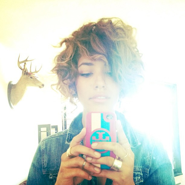 Bob hairstyle today and gold @karenlondon rings (Taken with Instagram)
