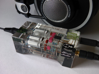 Beautiful custom headphone amp (via Run Away Brainz: Audio: Crystal cMoy Freeform Headphone Amp)