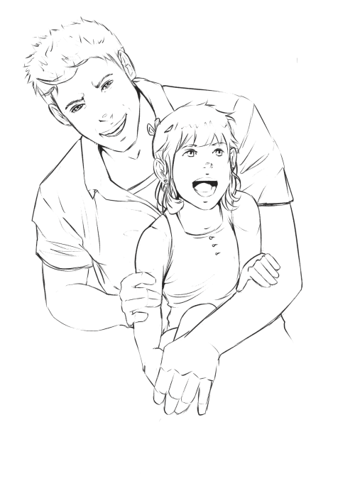 In which Dean takes Emma to watch fireworks. I decided to draw child Emma because of reasons.  Daddy!Dean suggested by angelswithphoneboxes. I hope you like it.  It still pisses me off how easily they killed her. :/