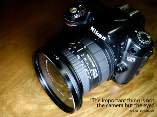 The important thing is not the camera but the eye - Alfred Eisentaedt