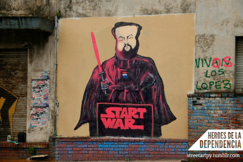 Start Wars by Yuki Yshizuka for the Dependence Heroes Colective. Asunción, Paraguay.